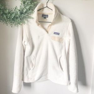 Patagonia White and Cream Pullover